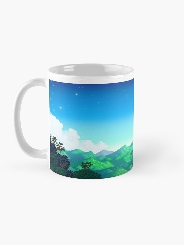 Alternate view of Stardew valley hot chocolate Mug