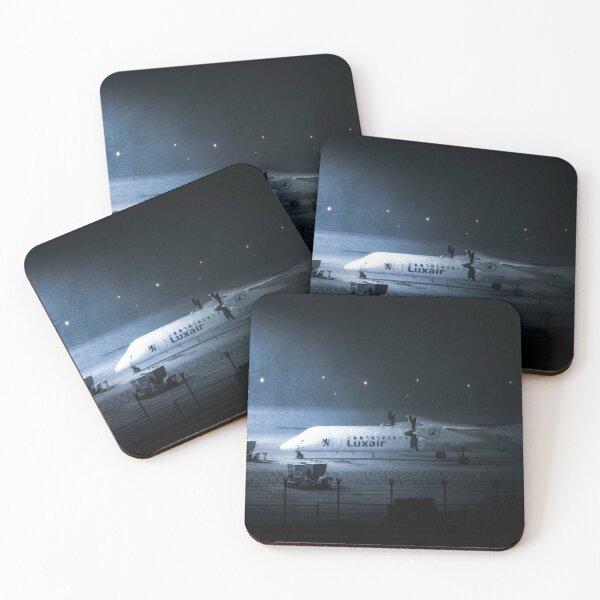 Luxair De Havilland Dash Snowstorm  Coasters (Set of 4)