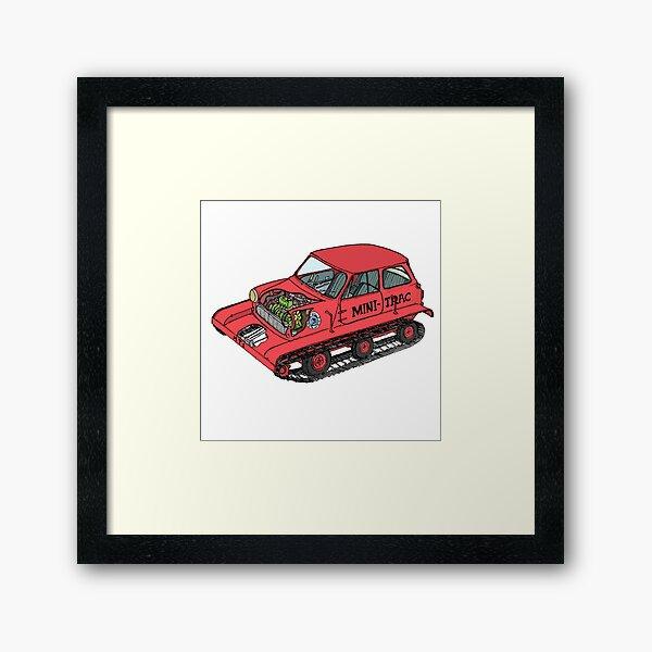 The 'Mini Trac' with Colour Framed Art Print