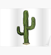 Lonely Cactus Poster