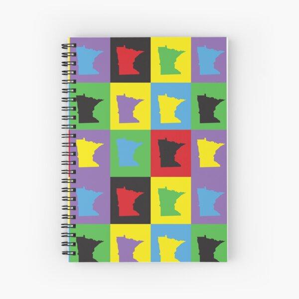 Minnesota Pop Art Colorful Pattern Spiral Notebook