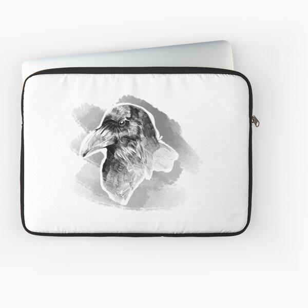 Corvus corax albus - Raven Laptop Sleeve
