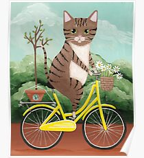 Earth Day Bicycle Ride Cat Poster