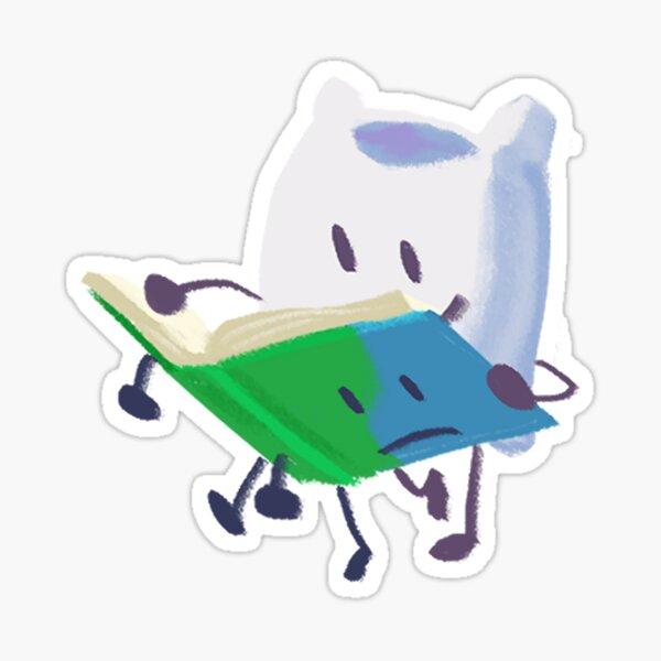 Pillow Reading Book Sticker