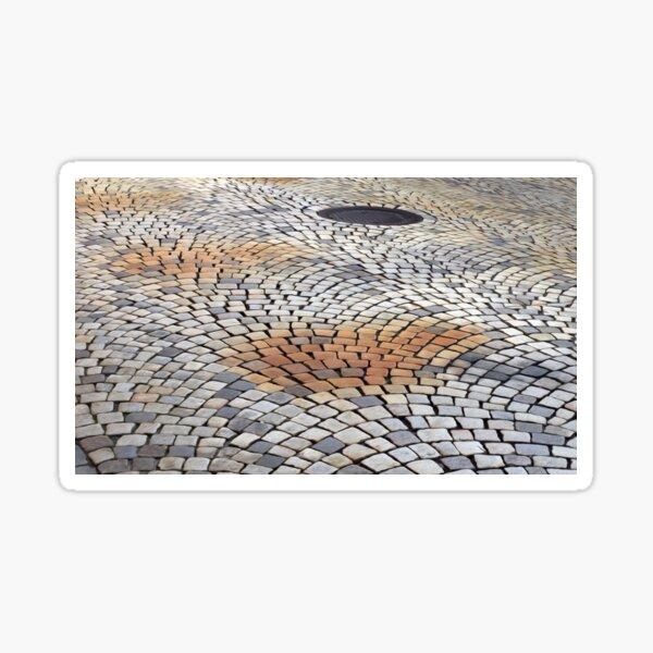 Cobblestone Street Texture Road Sidewalk Pattern  Sticker
