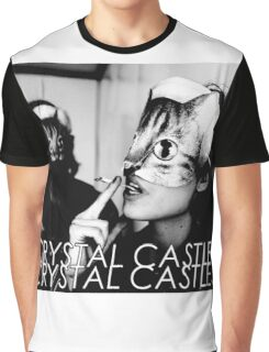 Crystal Castles Cat masks Graphic T-Shirt