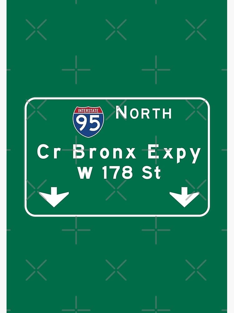 Cross Bronx Expressway, NYC Road Sign, USA | Spiral Notebook