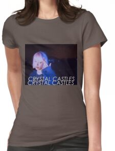 Crystal Castles Alice VHS filter Womens Fitted T-Shirt