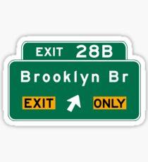 Brooklyn Bridge, NYC Road Sign, USA Sticker