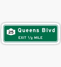 Queens Boulevard, NYC Road Sign, USA Sticker
