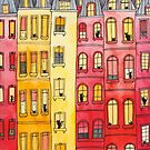 Sunset Townhouse Block Cats by Ryan Conners