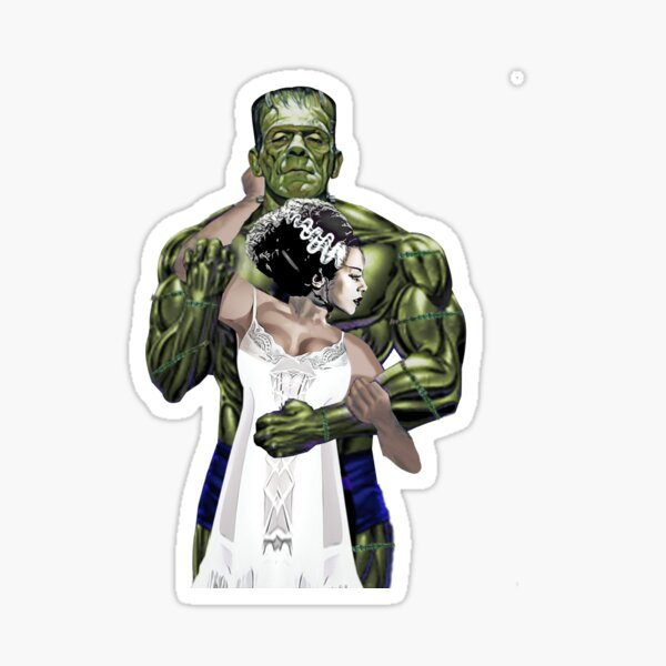Frankenstein and Bride Sticker