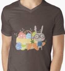 Easter Bunny With Basket of Colored Eggs T-Shirt
