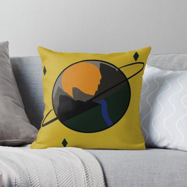 Planet Mountain Throw Pillow