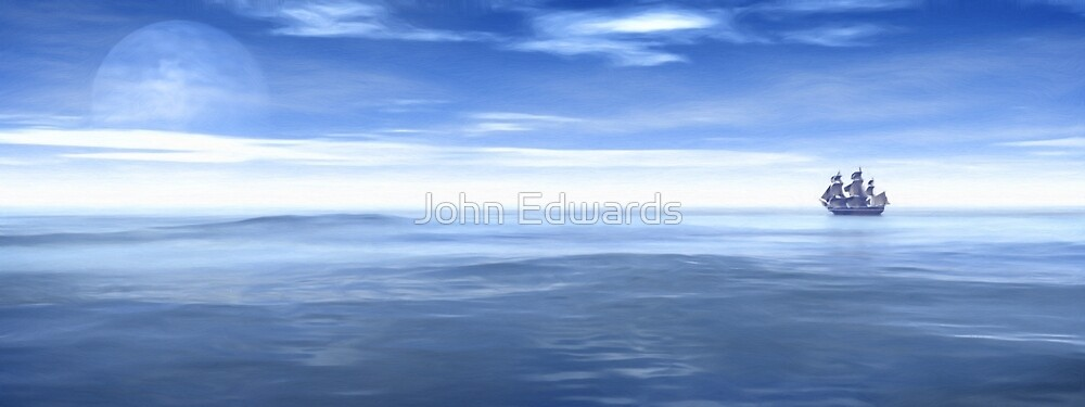 The quiet sea by John Edwards