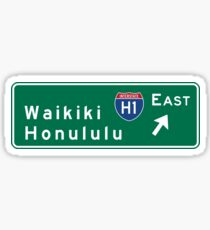 Waikiki-Honolulu, HI Road Sign, USA Sticker
