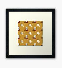 coffee pattern Framed Print