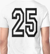25, TEAM SPORTS, NUMBER 25, TWENTY, FIVE, Twenty fifth, Competition,  T-Shirt