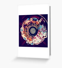 Stereographic Train Graffiti Greeting Card