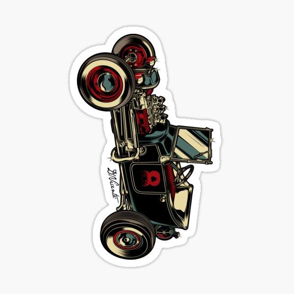 ALTE SCHULE KUSTOM AUTO Sticker