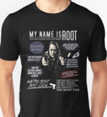 Root - Person von Interesse - Amy Acker Unisex T-Shirt
