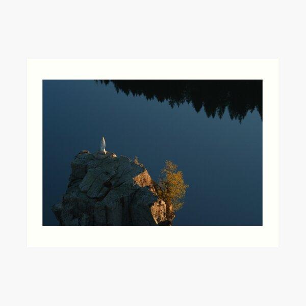 Le rocher Hans et le lac blanc Impression artistique