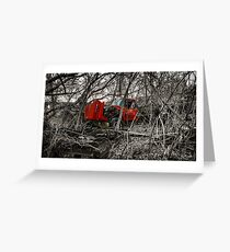 Montreal West side abadoned truck  Greeting Card