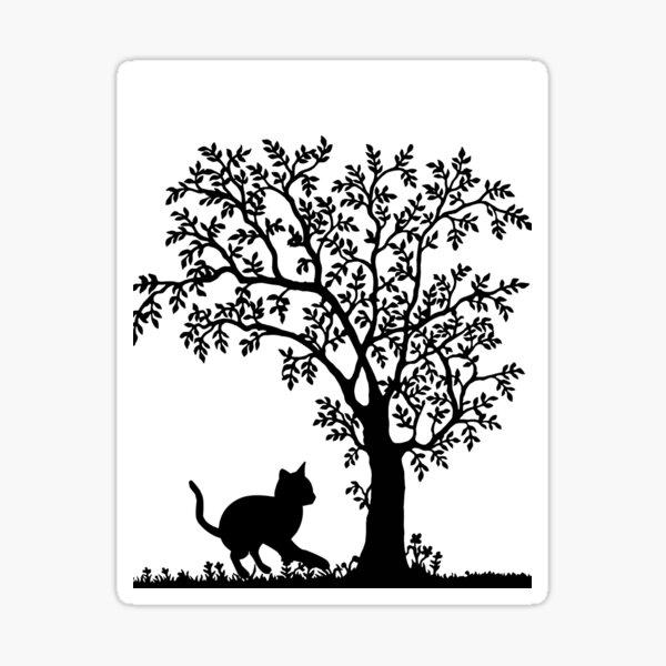 Cat&tree Sticker