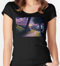 Path to Sunset Sea Women's Fitted Scoop T-Shirt