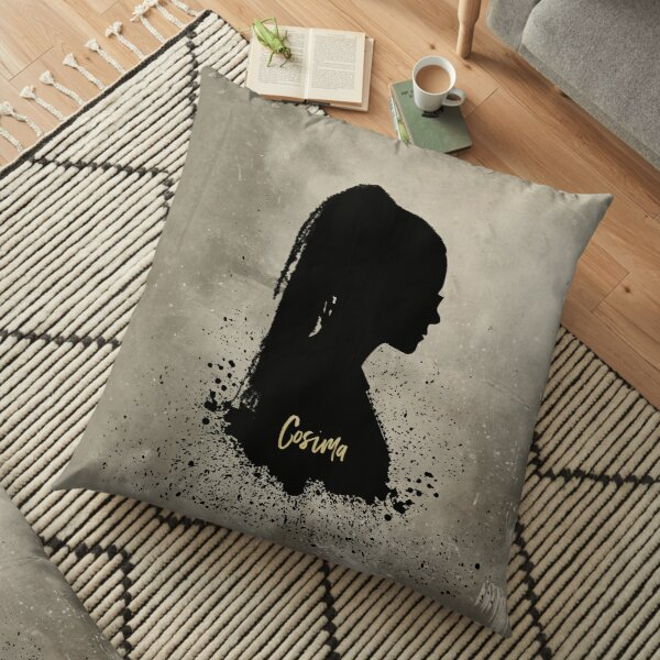 Cosima's Silhouette with Her Name, Orphan Black  Floor Pillow