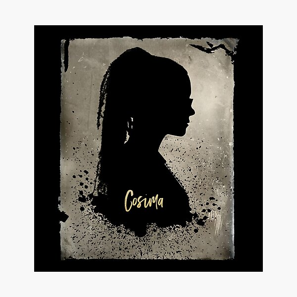 Cosima's Silhouette with Her Name, Orphan Black  Photographic Print