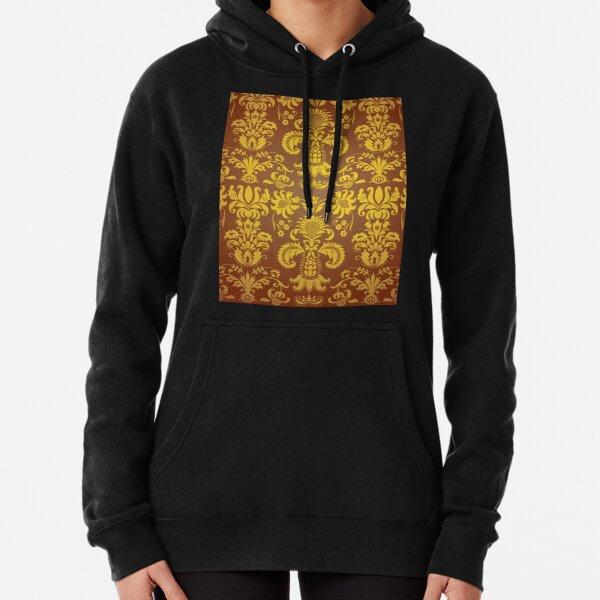 golden damask pattern Pullover Hoodie