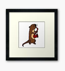 Hilarious Cool Otter Playing Saxophone Framed Print