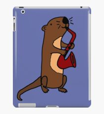 Hilarious Cool Otter Playing Saxophone iPad Case/Skin