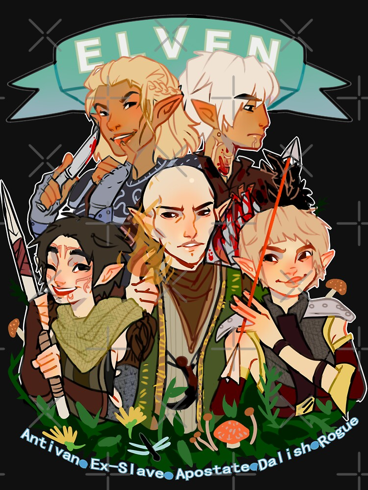 Dragon Age Elves by highjinkx