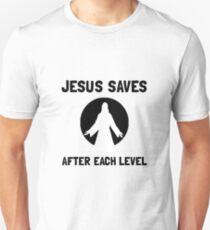 Jesus Saves Level Unisex T-Shirt
