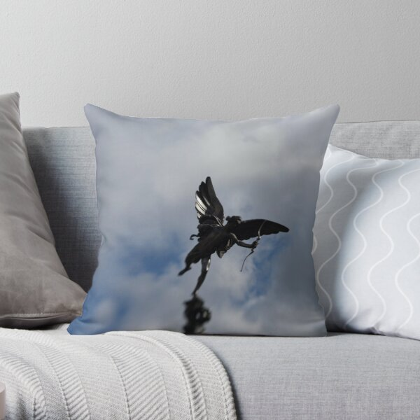 Statue of Eros, god of love from Greek mythology Throw Pillow