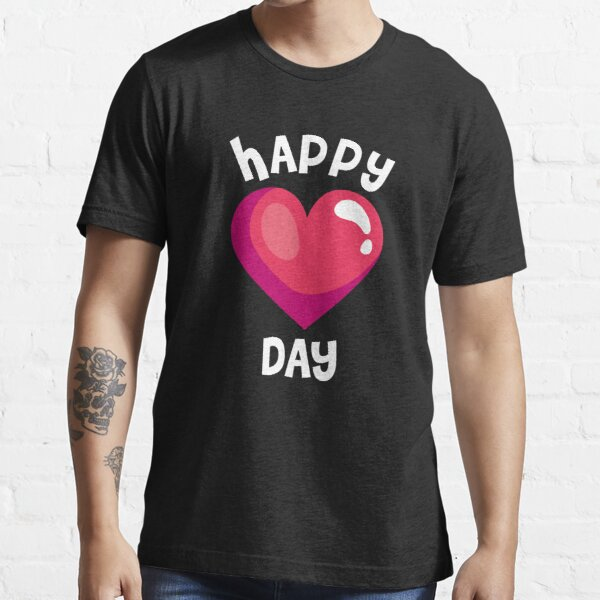 Happy Valentines Day T-Shirt Heart Love Gift Essential T-Shirt