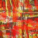 Burning Fire Abstract Painting by Printpix