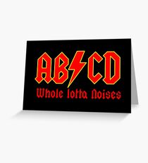 ABC a heavy metal parody funny Greeting Card