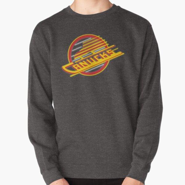 Vancouver Canucks Flying Skate Retro Neon Logo Pullover Sweatshirt