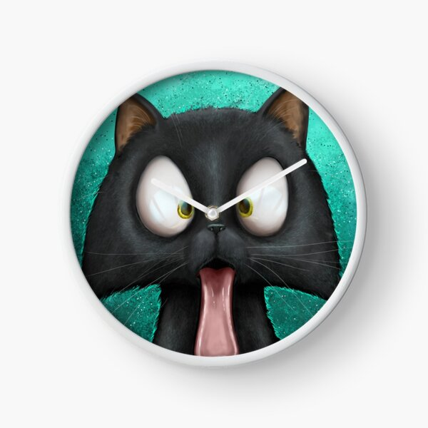 Cats With Their Tongues Out Clock