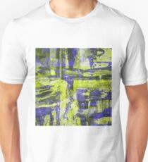 Abstract Study In Blue And Yellow T-Shirt
