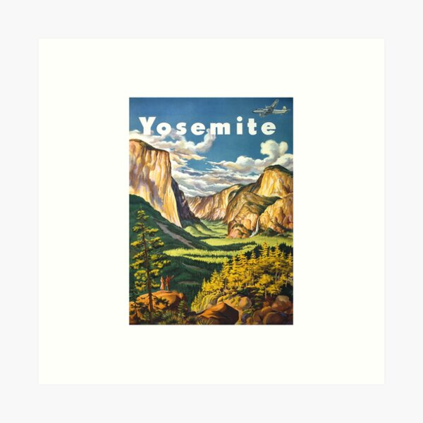 Yosemite Travel Art Print