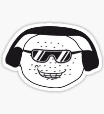 eating lemon delicious sour face sunglasses cool summer headphones music dj party club celebrate discounted Sticker