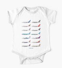 Airbus A380 Operators Illustration - Blue Version Kids Clothes