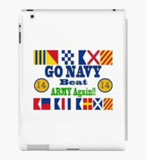 Go Navy Beat Army Again iPad Case/Skin