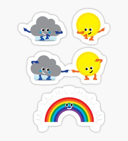 Character Fusion - Rainbow Sticker