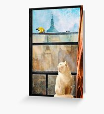 The Bird and the Cat Greeting Card