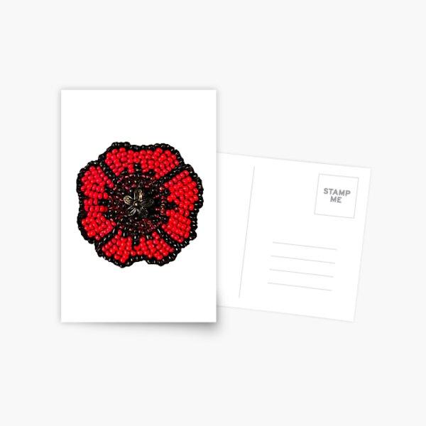 Metis Beaded Poppy  Postcard